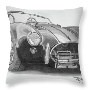1968 Shelby Cobra Throw Pillow