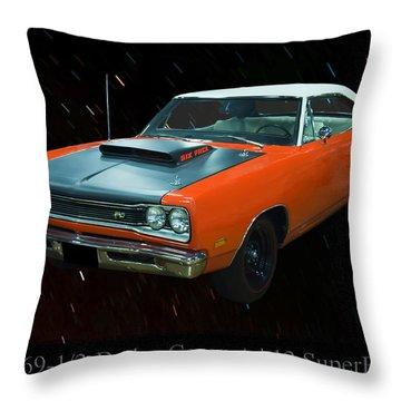 1969 And A Half Dodge Cornet A12 Superbee Throw Pillow by Chris Flees