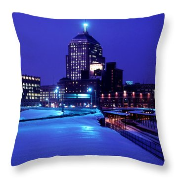 Throw Pillow featuring the photograph  1969 Boston Twilight by Historic Image