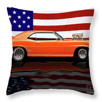 1969 Camaro Tribute Throw Pillow by Peter Piatt