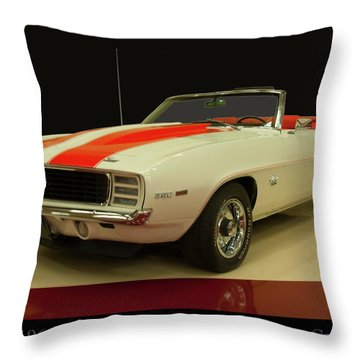 Throw Pillow featuring the photograph 1969 Chevy Camaro Rs/ss Indy Pace Car by Chris Flees