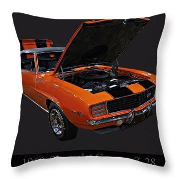 1969 Chevy Camaro Z28 Throw Pillow by Chris Flees
