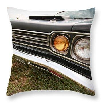 1969 Plymouth Road Runner 440-6 Throw Pillow by Gordon Dean II