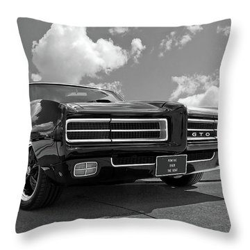 1969 Pontiac Gto The Goat Throw Pillow