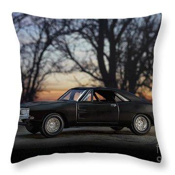 1969 Roadrunner Throw Pillow by Art Whitton
