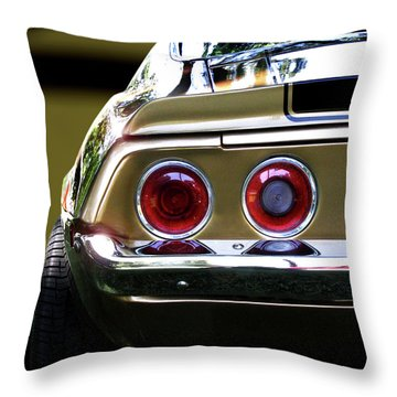 1970 Camaro Fat Ass Throw Pillow by Peter Piatt