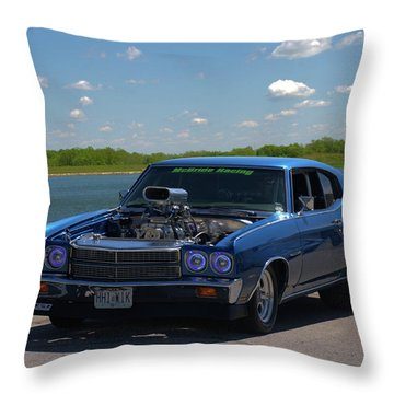 1970 Chevelle Pro Street Dragster Throw Pillow