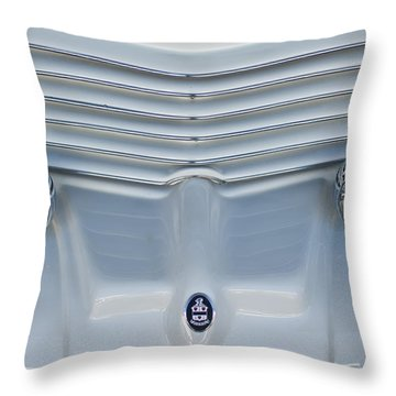 1970 Cord Royale Grille Hood Ornament Throw Pillow by Jill Reger