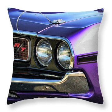 1970 Dodge Challenger Rt 440 Magnum Throw Pillow by Gordon Dean II