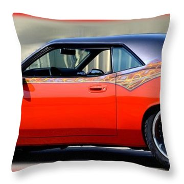 1970 Dodge Challenger Srt Throw Pillow by Maria Urso