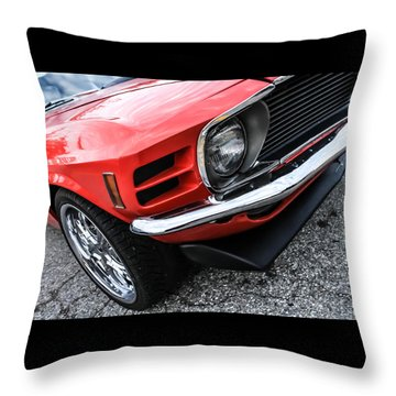 1970 Ford Mustang Throw Pillow