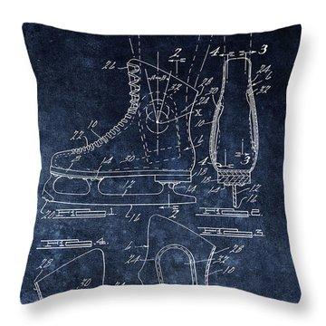 1970 Ice Skate Patent Throw Pillow