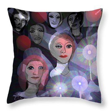 Throw Pillow featuring the digital art 1970 - A Ceremony by Irmgard Schoendorf Welch