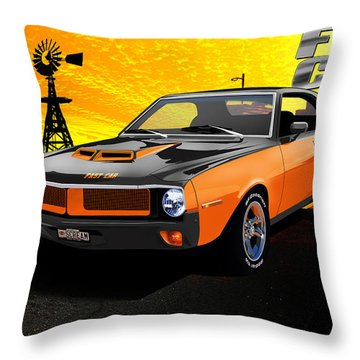 1970 Javelin Throw Pillow