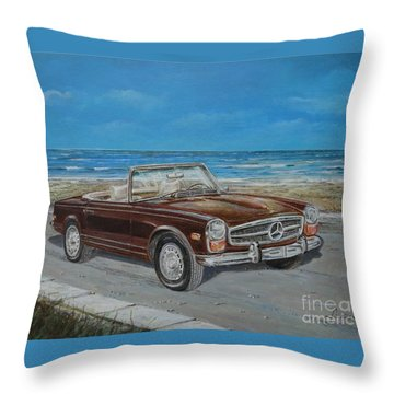 1970 Mercedes Benz 280 Sl Pagoda Throw Pillow