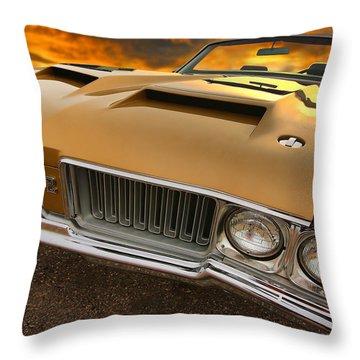 1970 Oldsmobile 442 W-30 Throw Pillow by Gordon Dean II