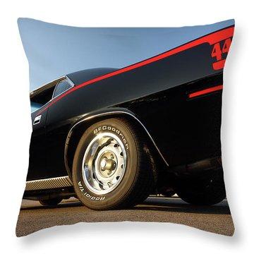 1970 Plymouth 440 'cuda Throw Pillow by Gordon Dean II