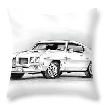 1970 Pontiac Gto Judge Throw Pillow