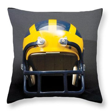 1970s Wolverine Helmet Throw Pillow