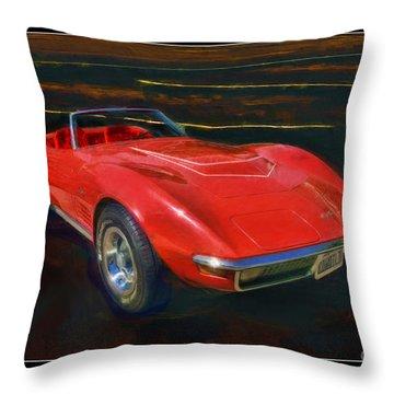 1971 Chevy Corvette Lt1 Throw Pillow by Blake Richards
