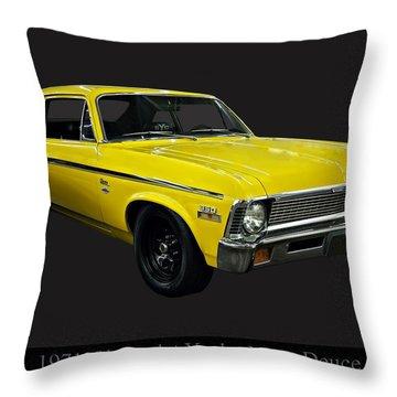 1971 Chevy Nova Yenko Deuce Throw Pillow by Chris Flees