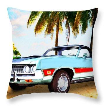 1971 Ford Ranchero At Three Palms - 5th Generation Of Ranchero Throw Pillow