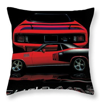 1971 Plymouth Cuda 440 Six Pack    Throw Pillow by Peter Piatt