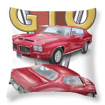 1971 Pontiac Gto Throw Pillow