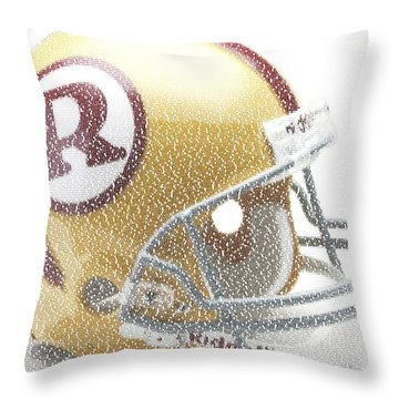 1971 Redskins Helmet Greatest Players Mosaic Throw Pillow by Paul Van Scott