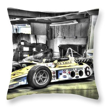 Bobby Unser 1972 Olsonite Eagle Pole Position Car  Throw Pillow