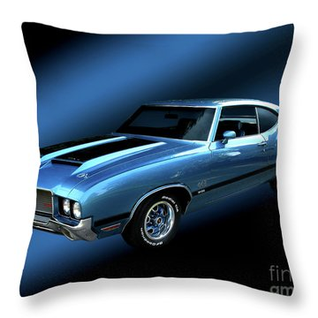 1972 Olds 442 Throw Pillow by Peter Piatt