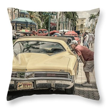 1973 Buick Riviera Throw Pillow