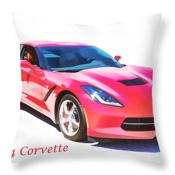 1974 Red Corvette By Chevrolet Painting Print 3480.02 Throw Pillow