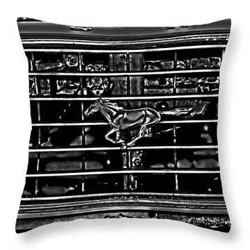 1977 Mustang Grill Throw Pillow