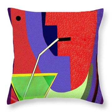 Throw Pillow featuring the digital art 1979 - Party Pop 2017 by Irmgard Schoendorf Welch