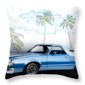 1979 Ranchero Gt 7th Generation 1977-1979 Throw Pillow