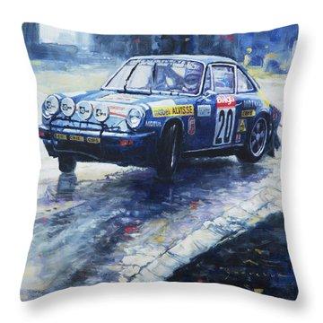 1980 Criterium Lucien Bianchi Porsche Carrera Keller Hoss #20 Throw Pillow by Yuriy Shevchuk