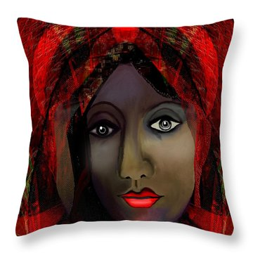 Throw Pillow featuring the digital art 1980 -  Leading Into Temptation 2017 by Irmgard Schoendorf Welch