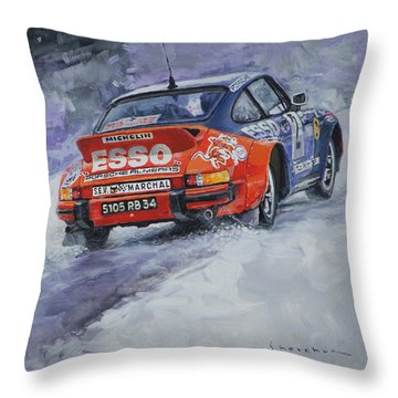 1980 Rallye Monte Carlo Porsche 911 Sc Hannu Mikkola  Throw Pillow