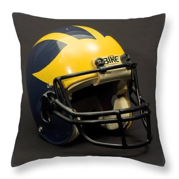 1980s Wolverine Helmet Throw Pillow