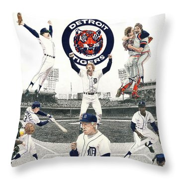 1984 Detroit Tigers Throw Pillow
