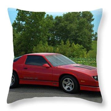 1989 Camaro Iroc Throw Pillow