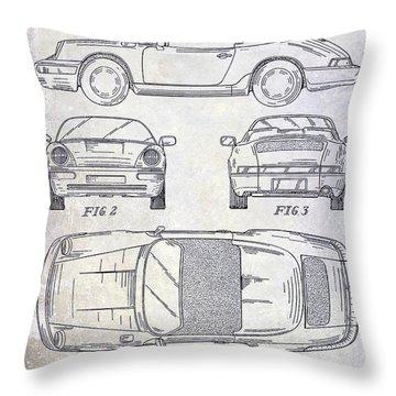 1990 Porsche 911 Patent Throw Pillow