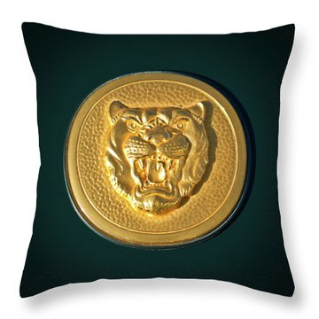 1994 Jaguar Xjs Emblem Throw Pillow by Jill Reger