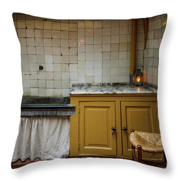 Throw Pillow featuring the photograph 19th Century Kitchen In Amsterdam by RicardMN Photography
