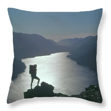 Throw Pillow featuring the photograph 1a4042 Silhouette At Crescent Lake Wa by Ed Cooper Photography