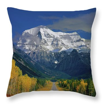 1m2441-h Mt. Robson And Yellowhead Highway H Throw Pillow