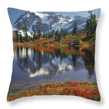 1m4208 Mt. Shuksan And Picture Lake Throw Pillow