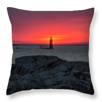 1st Light Throw Pillow