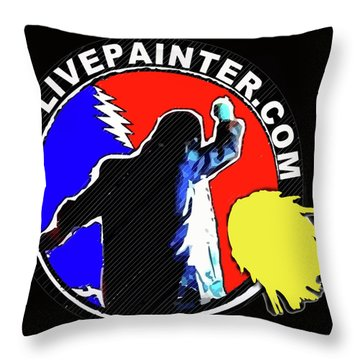 1st Live Painter Logo Throw Pillow